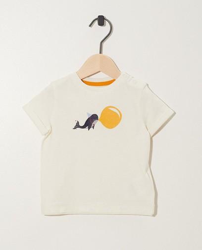 T-shirt blanc, imprimé de baleines