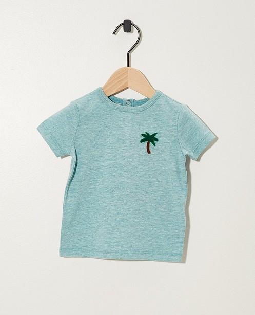 T-shirt bleu avec un arc-en-ciel - chiné - JBC