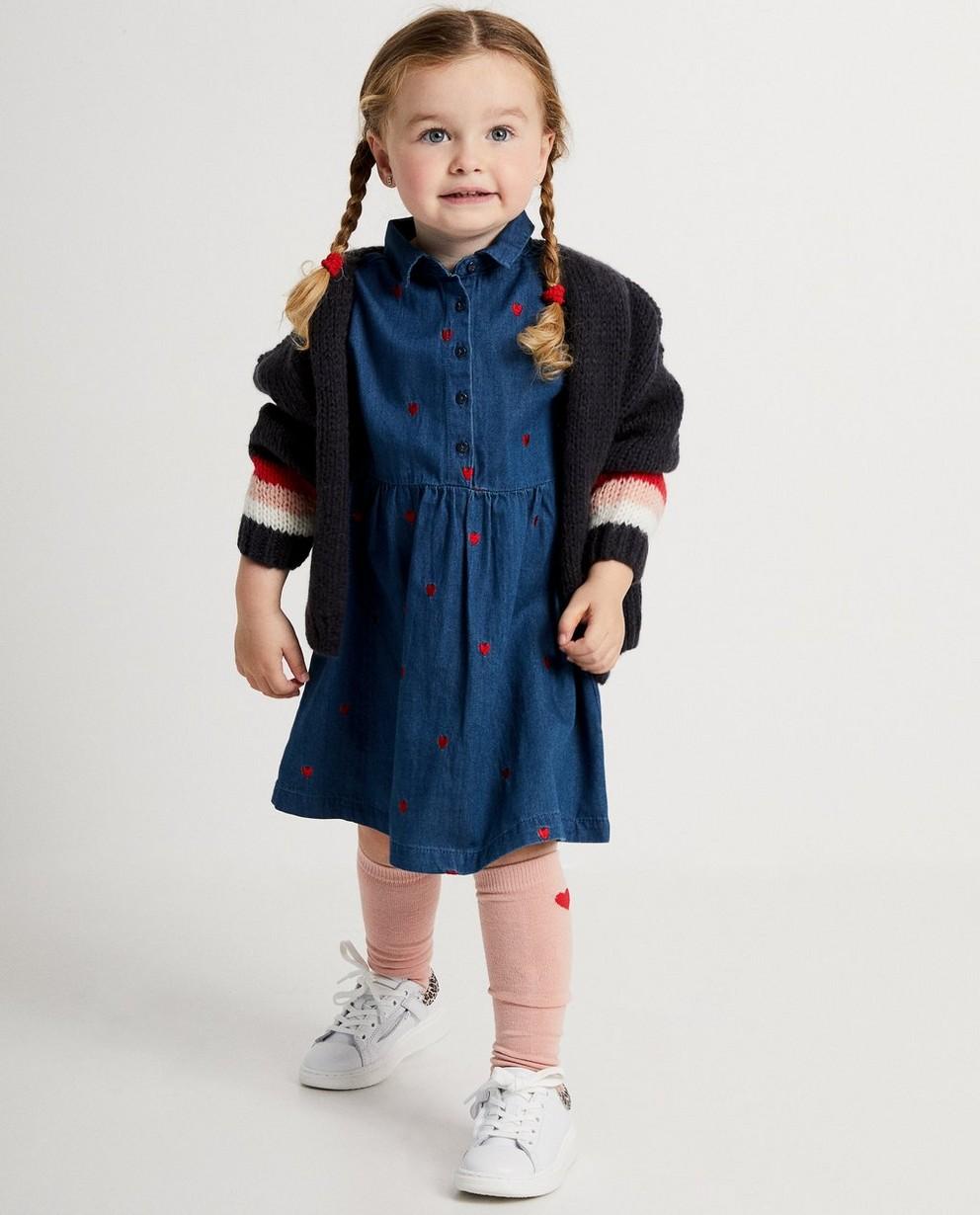 Cardigan bleu, laine mélangée - tricot à grosses mailles - JBC