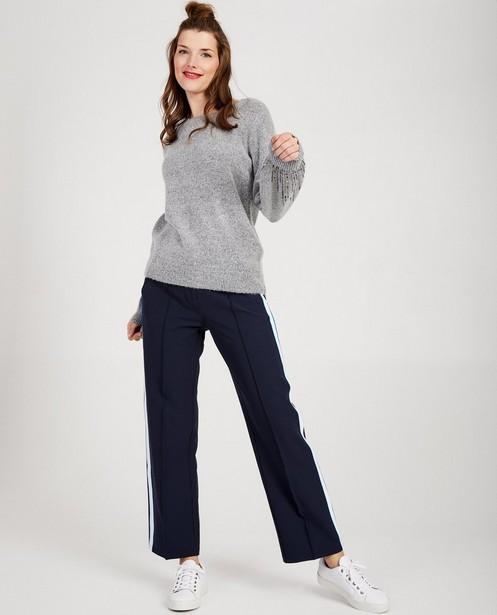 Pull gris en tricot de luxe Sora - à paillettes - Sora