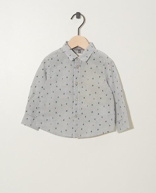 Chemise blanche, coton bio - sur toute la surface - JBC