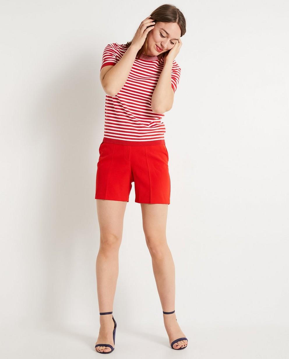 Top rayé rouge et blanc - fin tricot - JBC