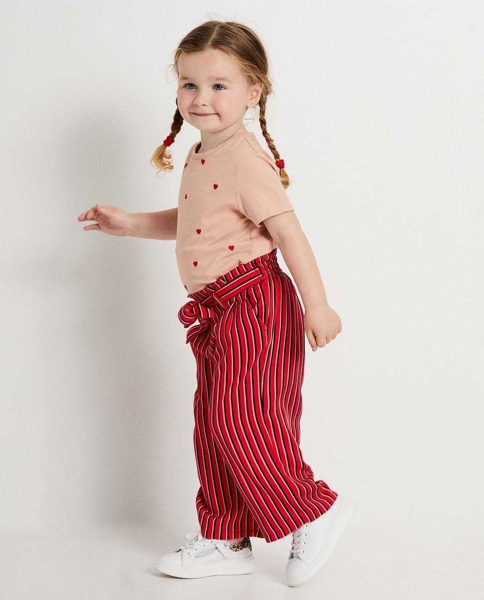 Rode broek met strepen - allover - JBC