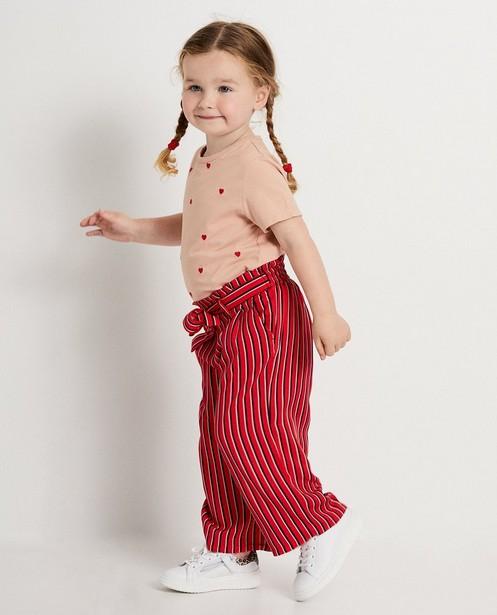 Pantalon rouge à rayures - sur toute la surface - JBC