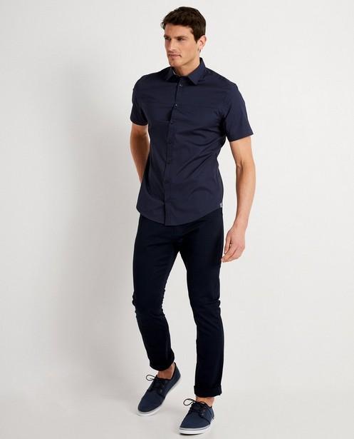 Chemise bleu foncé - à manches courtes - Iveo
