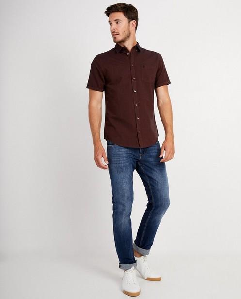 Chemise brune à manches courtes - chiné - JBC