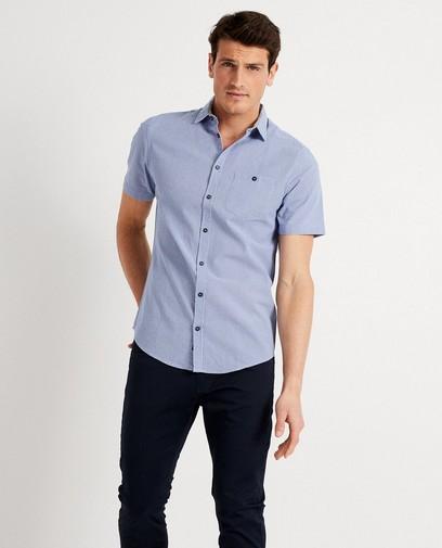 Lichtblauw hemd met print