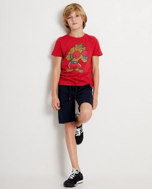 T-shirt rouge à imprimé Campus 12 - rouge - Campus 12
