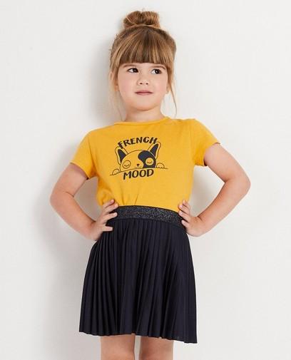 T-shirt jaune, imprimé BESTies