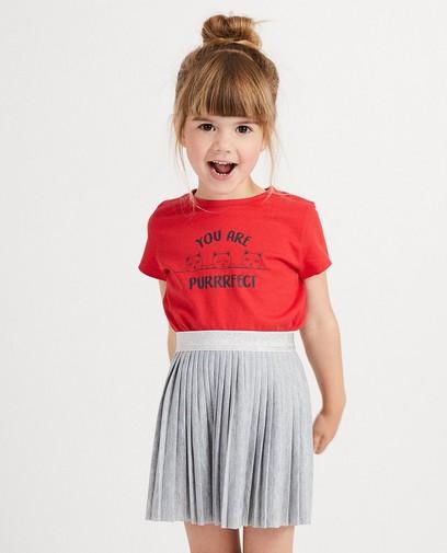 T-shirt rouge, imprimé BESTies