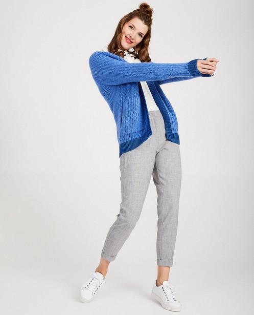 Cardigan bleu en mohair - fil métallisé - Sora