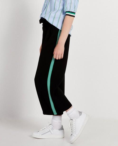 Pantalons - Pantalon noir, bande sportive