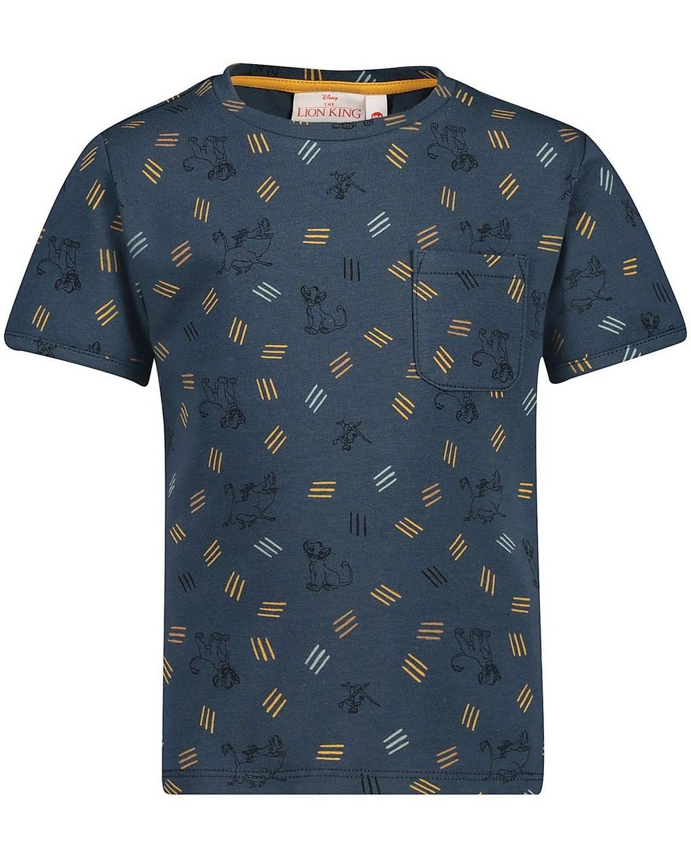 T-shirt bleu Le Roi Lion, Disney - imprimé - Lion King