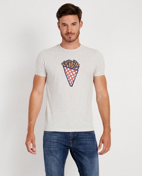 T-shirts - light grey - T-shirt gris, imprimé de frites (FR)
