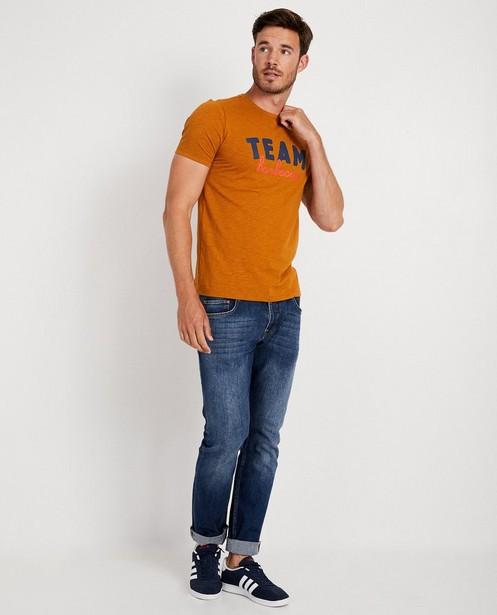 Terracotta T-shirt met opschrift - Twinning shirt - JBC