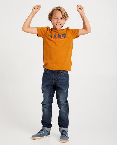 T-shirt terracotta à inscription - Twinning shirt - JBC