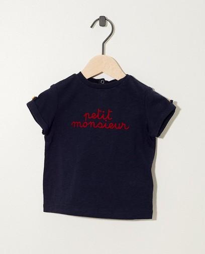 T-shirt bleu marine à inscription