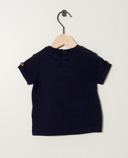 T-shirts - T-shirt bleu marine à inscription