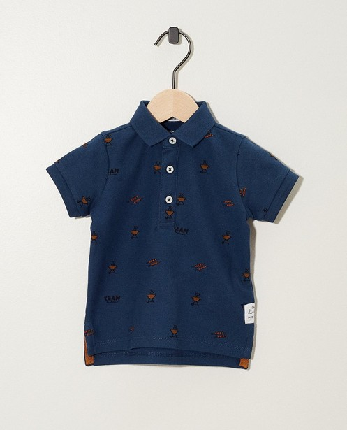 Blaues Poloshirt mit Druck - twinning - JBC