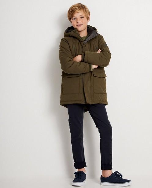 Longue veste bleue - à capuchon - JBC