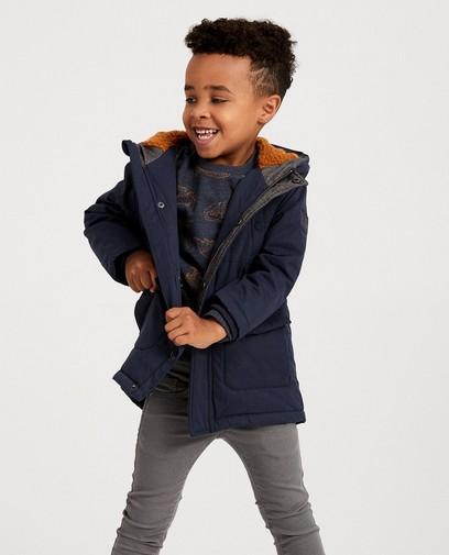 Longue veste bleu foncé