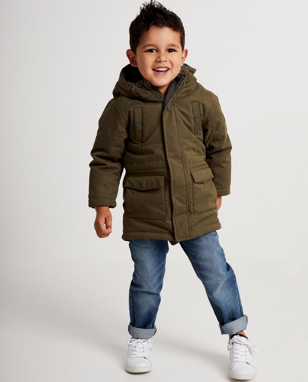 Lange donkerblauwe jas - lang model - JBC