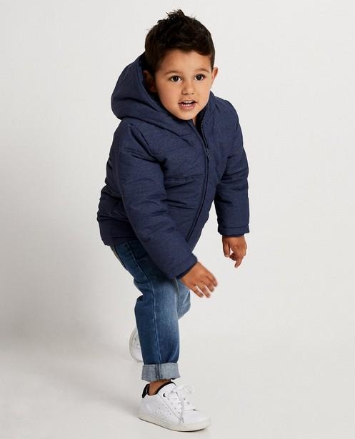 Waterafstotende blauwe jas met kap - gewatteerd - JBC