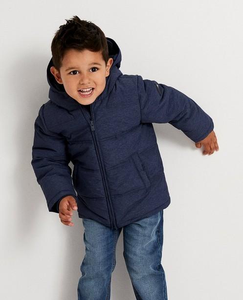 Jassen - BLM - Waterafstotende blauwe jas met kap