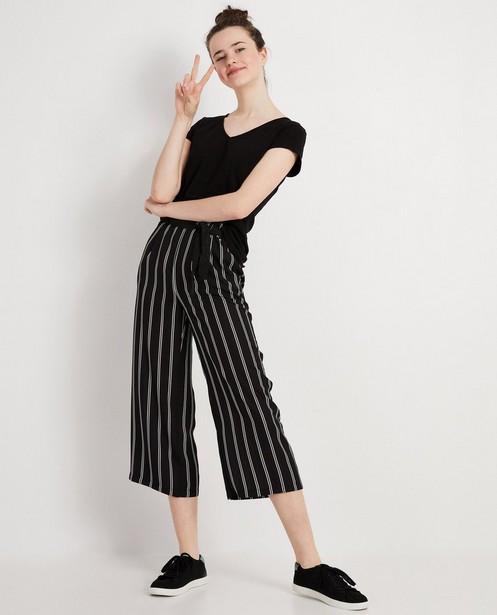 Pantalon noir à rayures - verticales - JBC