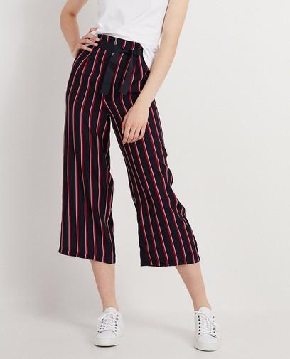 Pantalon noir à rayures