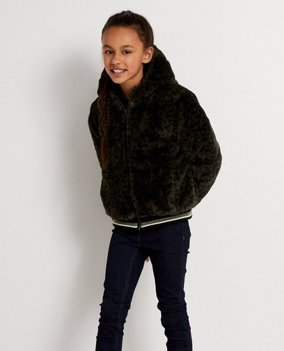 Kakigroene - zwarte omkeerbare jas