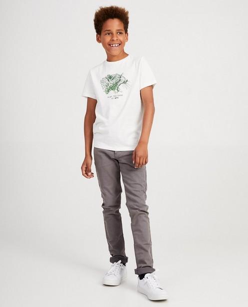 Khaki T-Shirt mit Tierdruck - und Aufschrift - JBC
