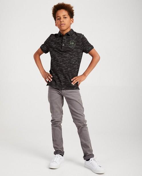 Dunkelgraues Poloshirt mit Aufschrift - meliert - JBC
