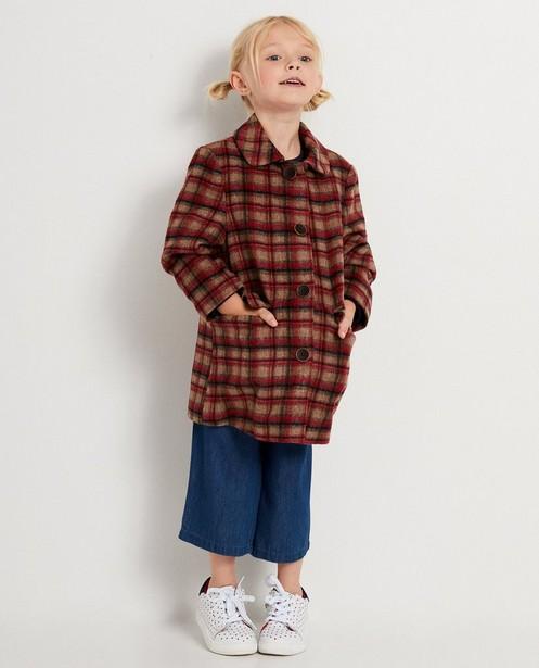 Veste rouge à carreaux - manteau - JBC
