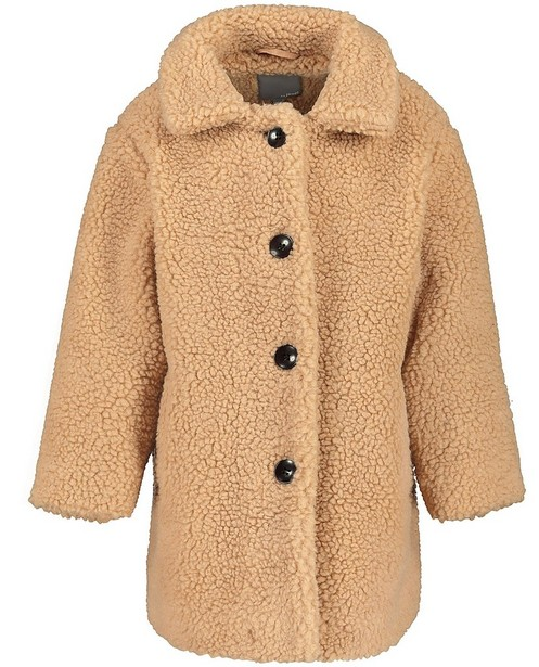 Longue veste teddy beige  - avec boutons - JBC