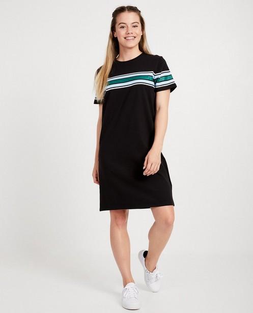 Robe t-shirt noire - rayures color block - JBC
