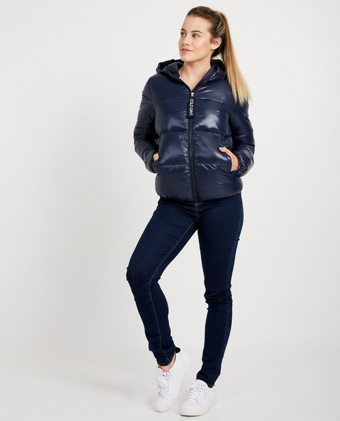 Waterafstotende blauwe jas - met kap - JBC