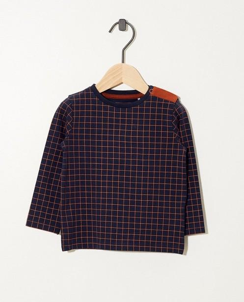 T-shirt vert à manches longues - coton bio, imprimé - JBC