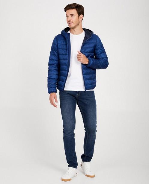 Gewatteerde kobaltblauwe jas - waterafstotend - JBC