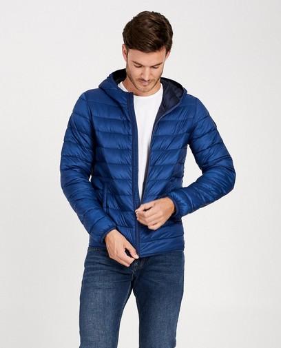Gewatteerde kobaltblauwe jas
