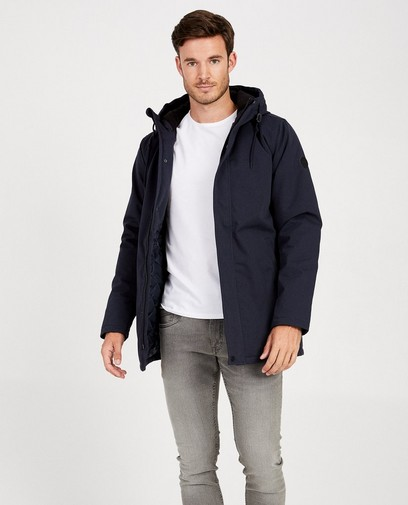 Waterafstotende blauwe jas