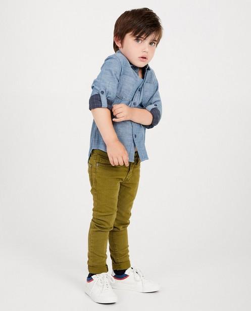 Chemise bleue, manches enroulables - look jeans - JBC