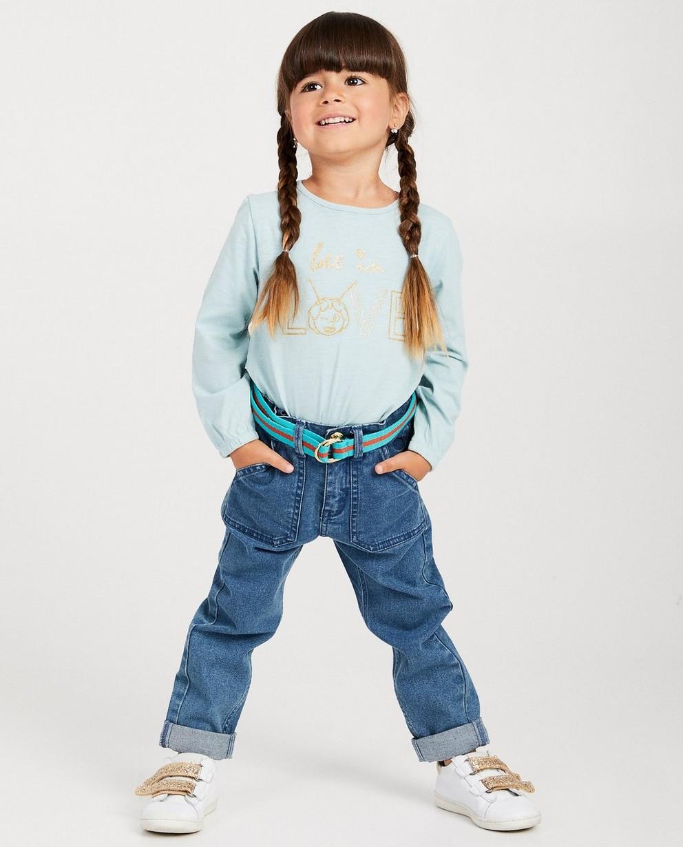 T-shirt à manches longues Maya - bleu clair, fil métallisé - Maya