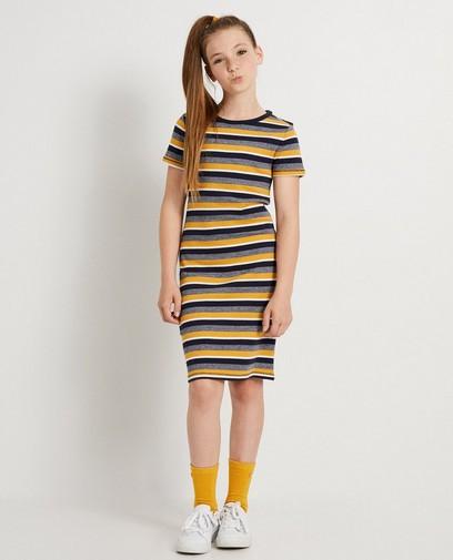 Robe t-shirt jaune rayée