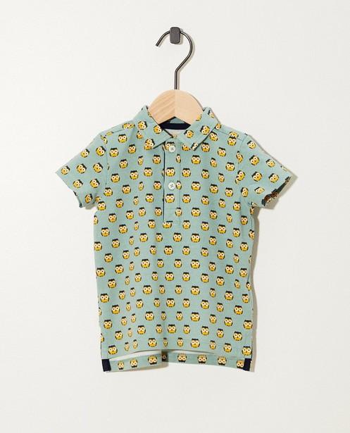 Poloshirt mit Druck aus Biobaumwolle - in Grün - JBC
