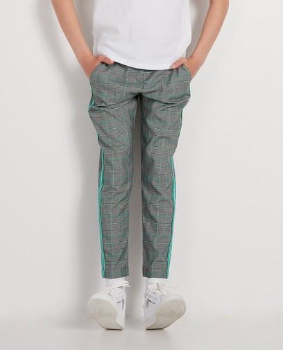 Pantalon gris à carreaux