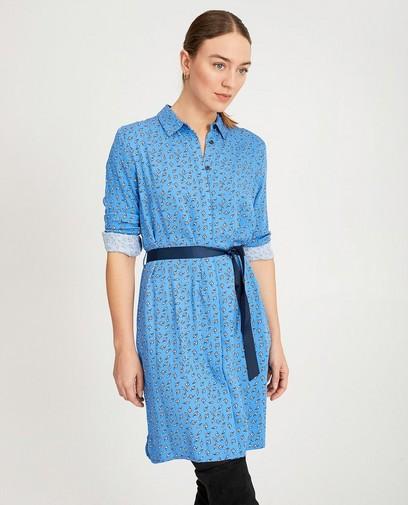 Robe-chemisier bleue