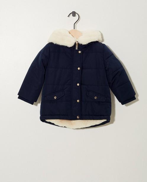 Donkerblauw winterjasje met pels - en pels - JBC