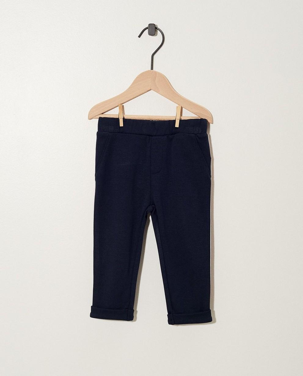 Pantalon molletonné bleu - sur le côté - JBC