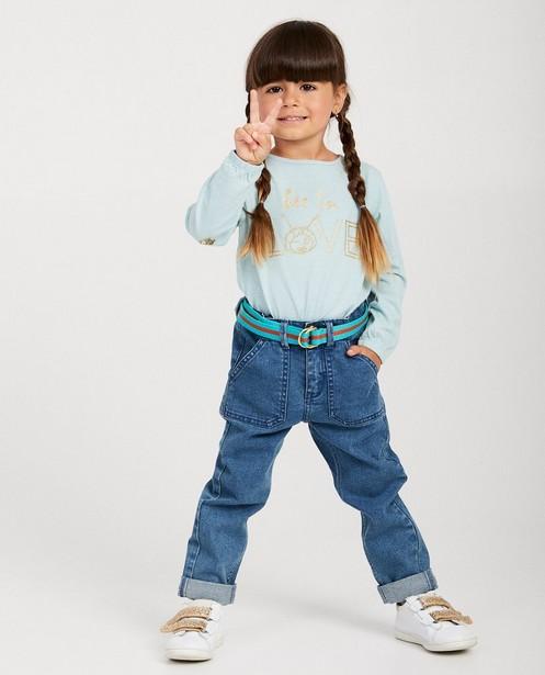 Jeans bleu avec ceinture, Maya - denim - Maya
